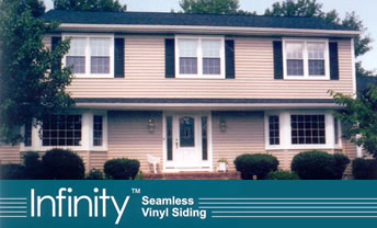 No seams with Infinity Seamless vinyl siding