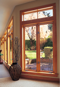 Jeld-Wen Transom Over Casement Wood Window