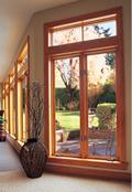 Jeld-Wen Transom Over Casement Wood Window