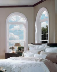 Soft-Lite Double Hung Windows with Round Top