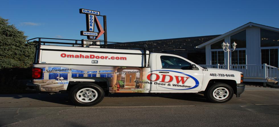 Odw Truck With Wrap Omaha Door Amp Window