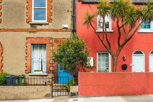 colorful houses and windows